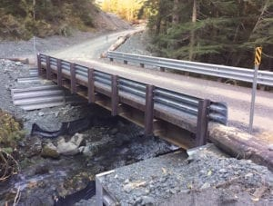 mining road, steel bridge, replacement
